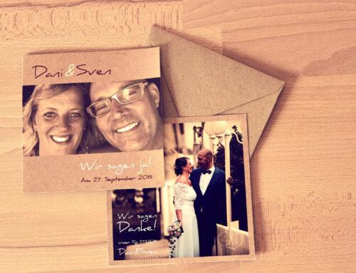 Hochzeitspapeterie Dani & Sven