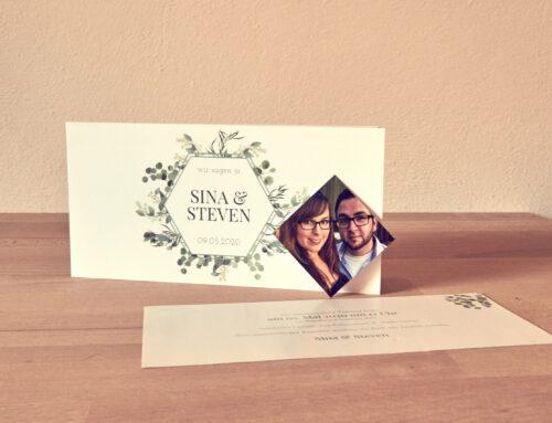 Hochzeitspapeterie Sina & Steven
